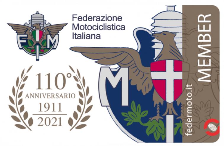 Tessera membro FIM - Federazione Motociclistica Italiana 2021